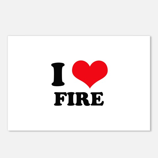 I Heart Fire Postcards (Package of 8)