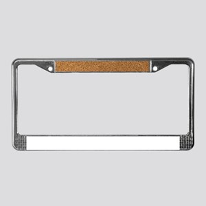 Chic Cork Pattern Unique for C License Plate Frame