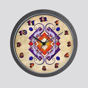 Purple Gecko Ring Wall Clock