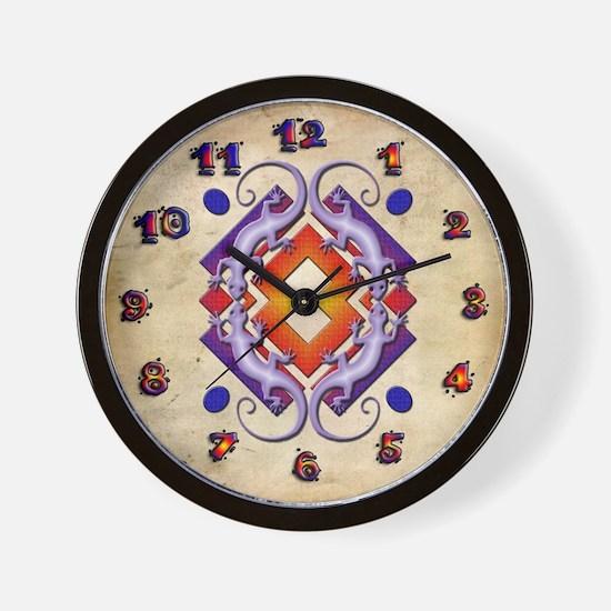 Purple Gecko Ring Wall Clock