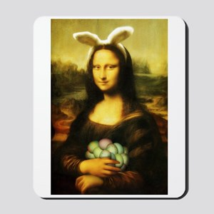 Mona Lisa, The Easter Bunny Mousepad