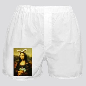 Mona Lisa, The Easter Bunny Boxer Shorts