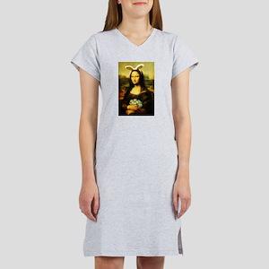 Mona Lisa, The Easter Bunny Women's Nightshirt