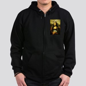 Mona Lisa, The Easter Bunny Zip Hoodie (dark)