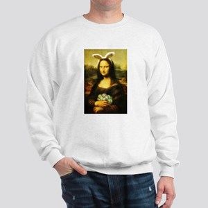 Mona Lisa, The Easter Bunny Sweatshirt