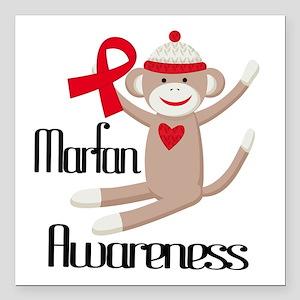 "Marfan Awareness Square Car Magnet 3"" x 3"""