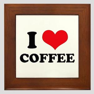 I Heart Coffee Framed Tile
