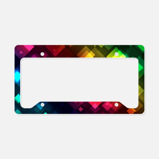 Cute Rainbow flag License Plate Holder