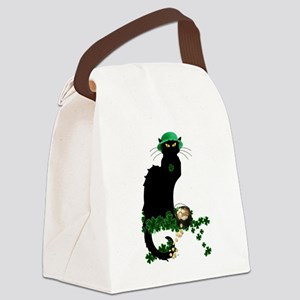 Le Chat Noir, St Patricks Day Canvas Lunch Bag