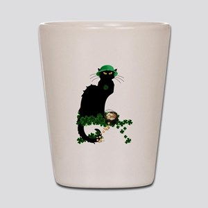 Le Chat Noir, St Patricks Day Shot Glass