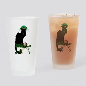 Le Chat Noir, St Patricks Day Drinking Glass