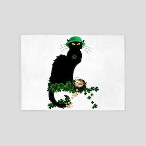 Le Chat Noir, St Patricks Day 5'x7'Area Rug