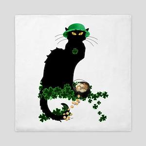 Le Chat Noir, St Patricks Day Queen Duvet