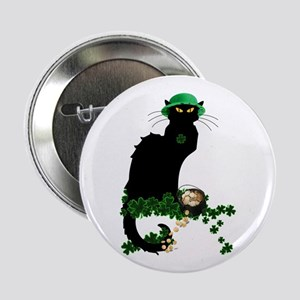 "Le Chat Noir, St Patricks Day 2.25"" Button"