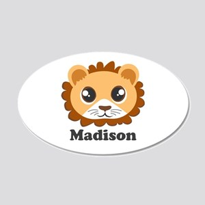 Cute Lion Custom Name Wall Decal