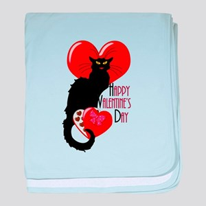 Happy Valentine's Day Le Chat Noir baby blanket