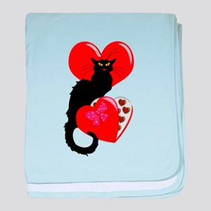 Le Chat Noir with Chocolate Candy Gif baby blanket