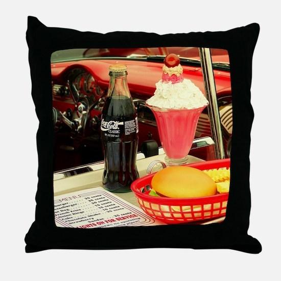 Cute Hamburger Throw Pillow