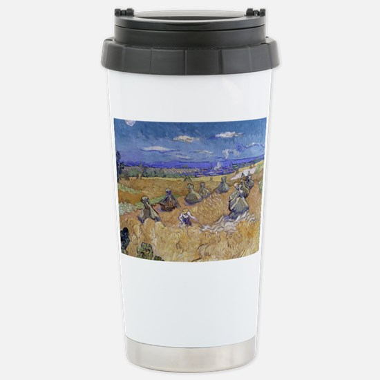 Vincent Van Gogh Wheat  Stainless Steel Travel Mug