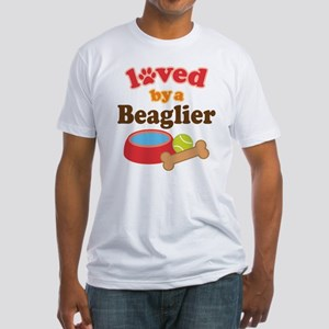 Beaglier Dog Lover Fitted T-Shirt