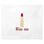 Kiss Me Lipstick King Duvet