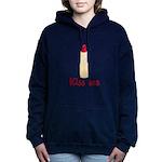 Kiss Me Lipstick Women's Hooded Sweatshirt