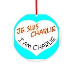 1 je suis charlie I am charlie Ornament (Round)