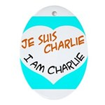 1 je suis charlie I am charlie Ornament (Oval)