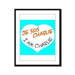 1 je suis charlie I am charlie Framed Panel Print