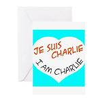 1 je suis charlie I am charlie Greeting Cards