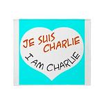 1 je suis charlie I am charlie Throw Blanket