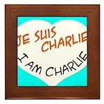 1 je suis charlie I am charlie Framed Tile