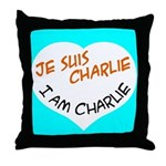 1 je suis charlie I am charlie Throw Pillow