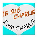 1 je suis charlie I am charlie Tile Coaster