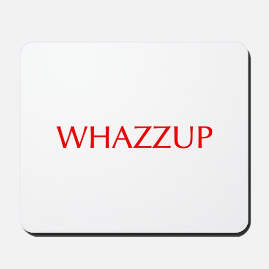 Whazzup-Opt red Mousepad