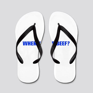 Where s the Beef-Akz blue Flip Flops