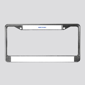 Where s the Beef-Akz blue License Plate Frame