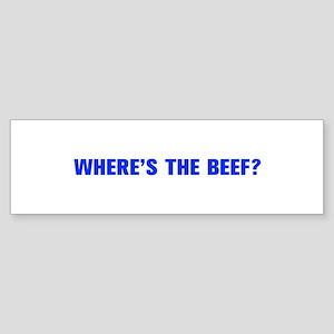 Where s the Beef-Akz blue Bumper Sticker