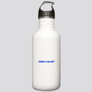 Where s the Beef-Akz blue Water Bottle
