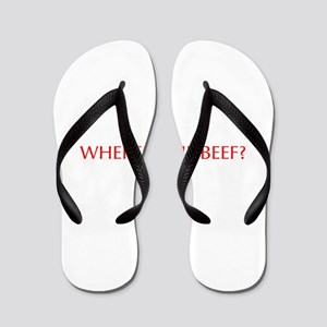 Where s the Beef-Opt red Flip Flops