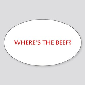 Where s the Beef-Opt red Sticker
