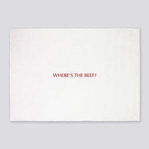 Where s the Beef-Opt red 5'x7'Area Rug