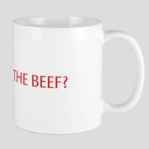 Where s the Beef-Opt red Mugs