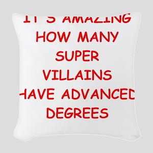 super villians Woven Throw Pillow