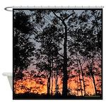 Forest Sunrise Shower Curtain