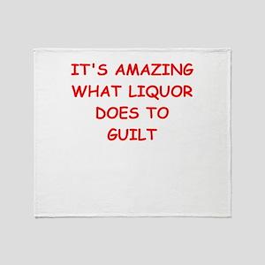 liquor Throw Blanket