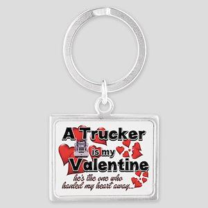 Trucker Valentine Landscape Keychain