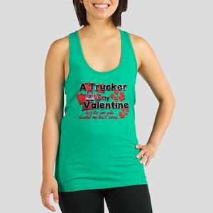 Trucker Valentine Racerback Tank Top