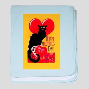 Le Chat Noir Valentine baby blanket