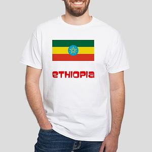 Ethiopia Flag Retro Red Design T-Shirt